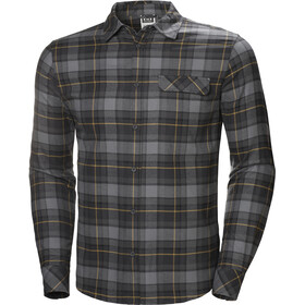 Helly Hansen Classic Check T-shirt à manches longues Homme, charcoal plaid